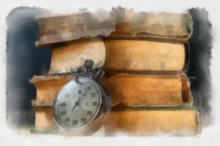 Книги и секундомер
