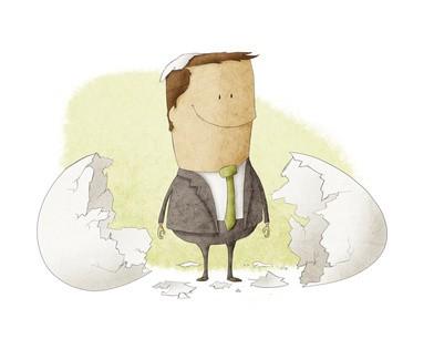 an entrepreneur who has been born from an egg